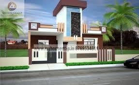 single floor house elevation design