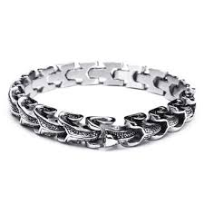 metal mens bracelet images Punk snake shaped 316l stainless steel bracelet mens jewelry at jpg