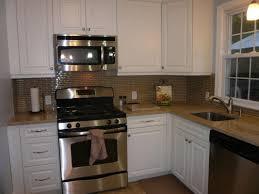 Narrow Kitchen Countertops Small Kitchen Design And Decoration Using White Wooden Kitchen