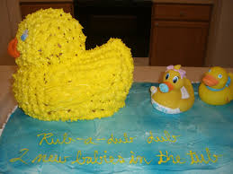 twins baby shower cake rubber ducky theme cakecentral com