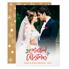 just married cards greeting photo cards zazzle