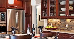 Beautiful Kitchen Glass Backsplash Cherry Cabinets Bbee - Backsplash for cherry cabinets