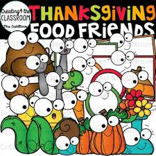 thanksgiving food friends clip thanksgiving clip tpt