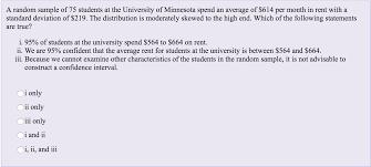 a random sample of 75 students at the university o chegg com