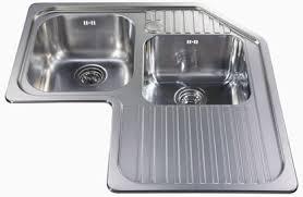 stainless corner sink cda ccp3 stainless steel corner one and 3 4 bowl corner sink