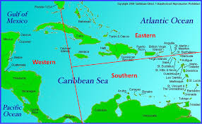 Map Caribbean by Southern Caribbean Cruise Map 2017 Punchaos Com