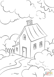 House Drawing Lovely House With Garden Coloring Page Free Printable Coloring Pages