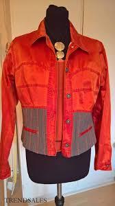 carla du nord carla du nord jakke strl 40 rust orange se billede