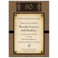 80th birthday invitations snakeskin antique 80th birthday invitations paperstyle