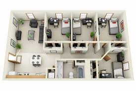 bedroom apartment floor plans d and house plans