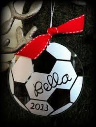 soccer ornaments for my team painted wooden soccer balls from
