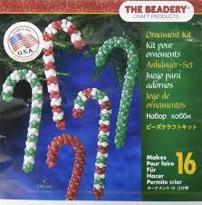 amazon com beadery holiday beaded ornament kit candy cane assortment