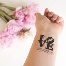 love sculpture temporary tattoos pack of custom tattoo