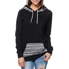 chic hooded long sleeve geometric print women u0027s hoodie drop