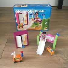 chambre enfant toboggan playmobil 5579 city chambre enfant avec surelevé toboggan