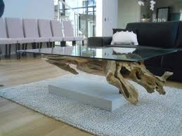 Square Glass Coffee Table by Unique Crate And Barrel Driftwood Coffee Table With Square Glass