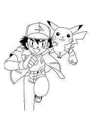 and pikachu coloring pages