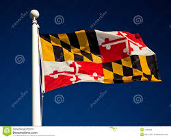 Maine State Flag Maryland State Flag Stock Photo Image Of Wind Cloudless 1492920