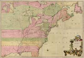 The Thirteen Colonies Map Stretched Out Colonial America Mappenstance