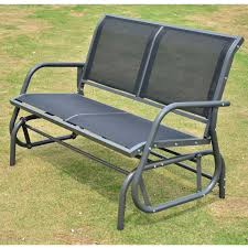 Outdoor Glider Rocker by Outsunny Patio Double Glider Bench Swing Chair Rocker Heavy Duty