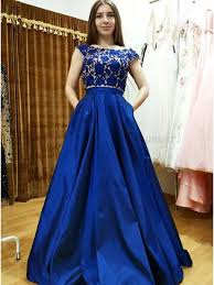 royal blue dress buy two bateau cap sleeves royal blue prom dress with