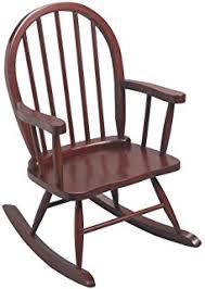 Childrens Rocking Chair Cushions Amazon Com Gift Mark Child U0027s Colonial Rocking Chair Cherry
