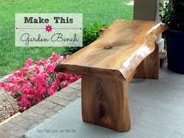Diy Wood Garden Chair by Diy Garden Bench Youtube