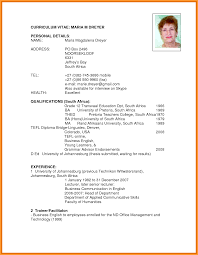 curriculum vitae south africa pdf chart cv format south africa letter format mail
