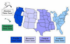 us map time zones with states us map