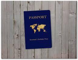 printable birthday party passport 5x7 instant download