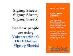 Volunteer Sign Up Sheet Template Free Sign Up Sheet Exles Your Own Free And Easy