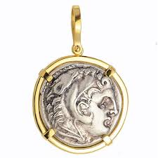 silver coin jewelry necklace images 18kt gold pendant w alexander the great ancient greek silver jpg