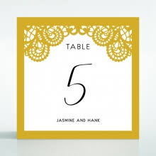 Laser Cut Table Numbers Dramatically Decorative Laser Cut Card Lovely Foil Design
