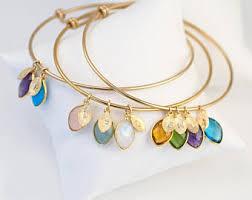 custom birthstone bracelets mothers bracelet etsy