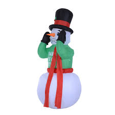 Outdoor Lighted Snowman Decorations by Aosom Homcom 6 5 U0027 Outdoor Lighted Christmas Inflatable Shaking