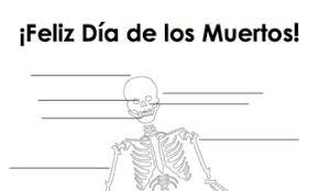 spanish day of the dead body parts worksheet día de los muertos