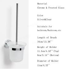 height measuring scale wall mounted wall mounted frosted glass toilet cleaning brush holder set