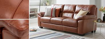 Brown Leather Sofa Dfs Dalmore 3 Seater Sofa Brazil With Leather Look Fabric Dfs