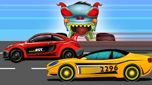 monster truck cartoon videos car race scary haunted house monster truck episode 11 youtube