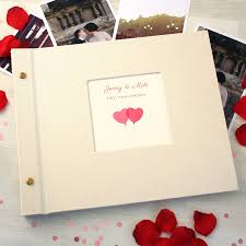 personalised wedding anniversary photo album by made by