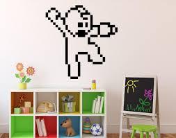amazon com mega man pixels wall decal video game wall vinyl amazon com mega man pixels wall decal video game wall vinyl sticker retro game home interior children kids room wall decor 2 mgm home improvement