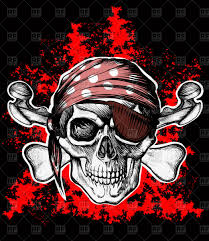 jolly roger pirate u0027s skull in bandanna vector clipart image