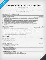 Insurance Resume Examples by General Dentist Resume Sample Dentist Health Resumecompanion