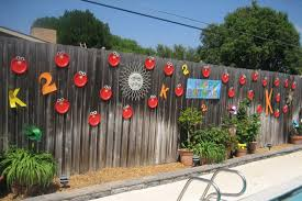 outdoor fence decorations home design ideas and pictures