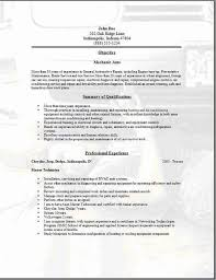 Sample Resume For Auto Mechanic by Auto Mechanic Resume Sample Help With Divorce Papers Free Free