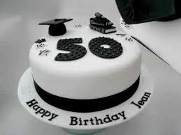 teacher black u0026 white 50th birthday cake youtube