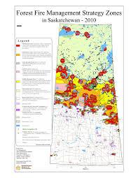 Map Of Saskatchewan Saskadapt Wildfire