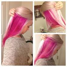dye bottom hair tips still in style color by nakia renee bright purple blue peeks out underneath