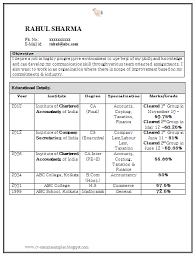 resume format doc for fresher accountant over 10000 cv and resume sles with free download curriculum