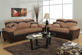 Pictures Of Living Rooms With Tan Couches Gabe Beige Leather Sofa And Loveseat Set With Storage Steal A